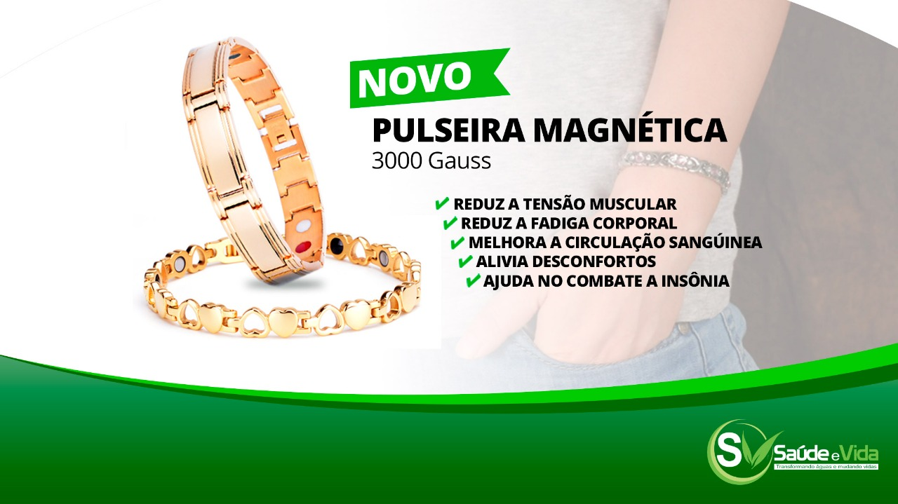Pulseira Magnética (semi-joias)